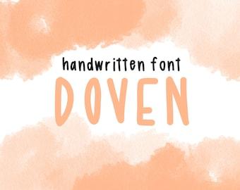 DOVEN handwritten font / font download / instant download