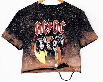 ACDC 2015 Thunderstruck Black Vintage Distressed T-Shirt
