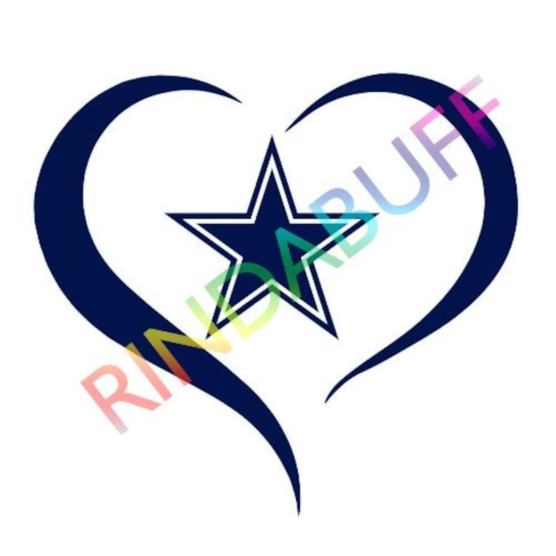 Download Love Cowboys Svg Heart Cowboys svg Dallas Cowboys logo svg ...