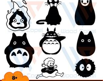 8 Files Of My Neighbor Totoro Bundle Svg, Cartoon Svg