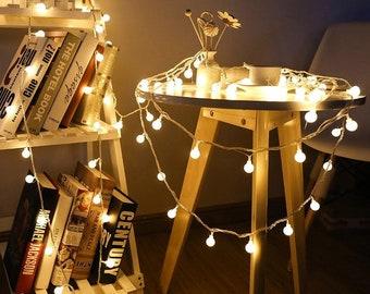 Mini Festoon String Lights for Bedroom Decoration, Folklore Lights, Accessory Guirlande Luminense, Indoor string lights, white light