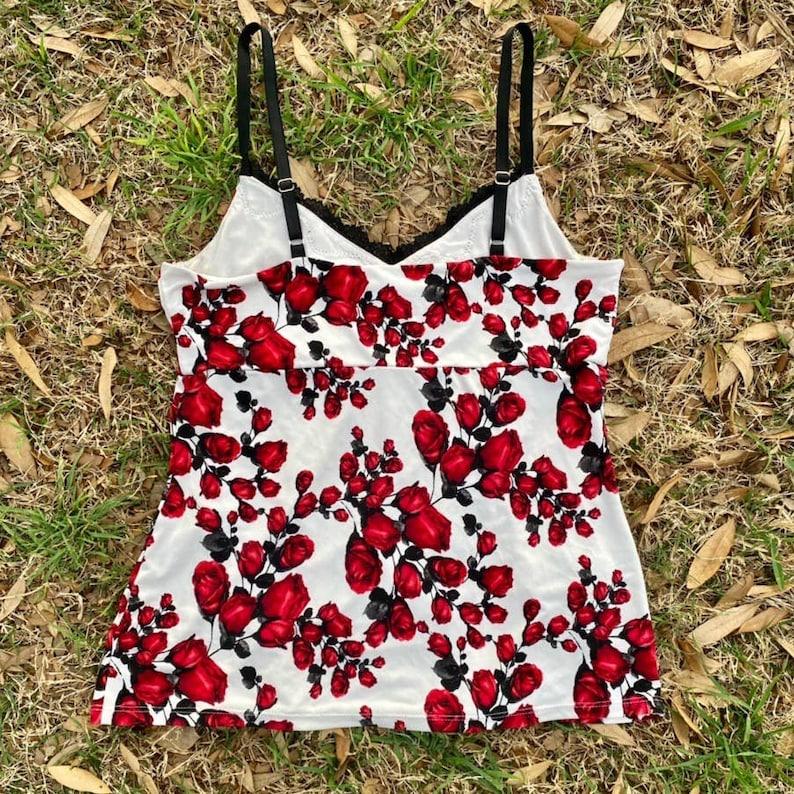 lace cami top Vintage Y2K romantic goth floral