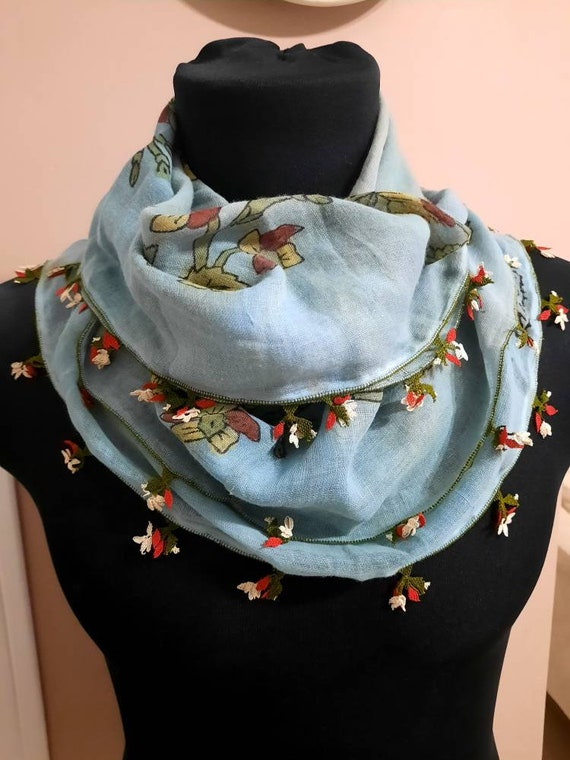 Scarf antique scarf anatolian silk embrodery