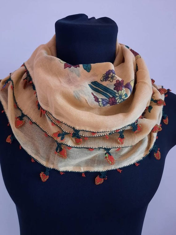 Scarf antique scarf anatolian embroidery