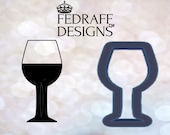 Wine Glass Cookie Cutter and Fondant Cutter and Clay Cutter