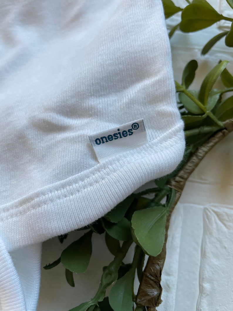 Custom Organic Cotton Bodysuit Onesie Child Baby Artwork Message Grandparents Announcement Unique Gift Backside Name Personalized