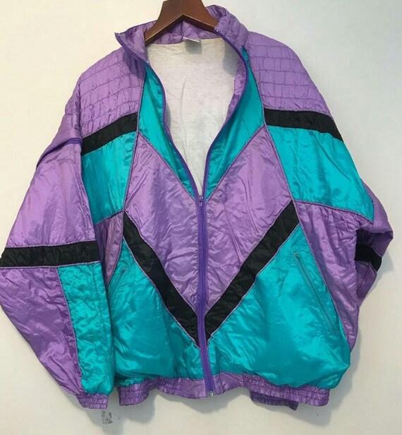 purple ski jacket, vintage clothing, vintage jacke