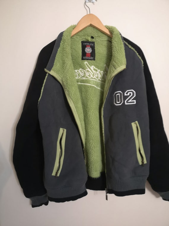 Vintage Retro Polar College Jacket, vintage clothi