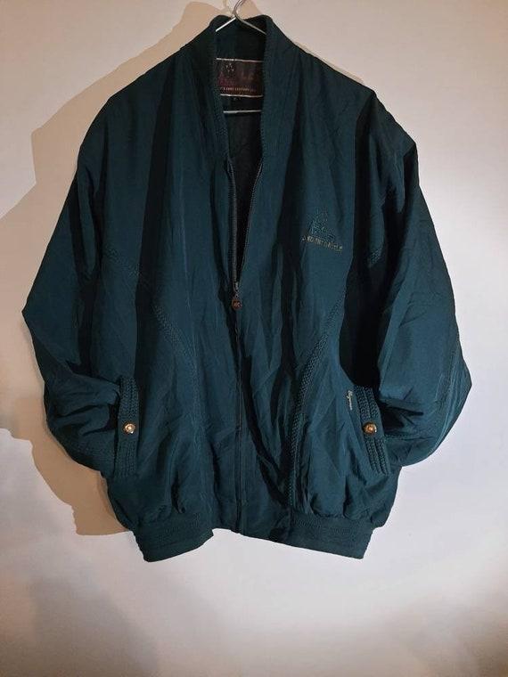 Blue vintage bomber jacket,jacket bomber men,vinta