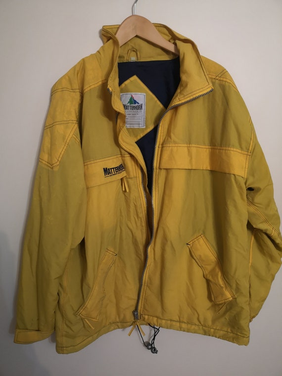 Yellow Vintage Raincoat, vintage clothing man, rai