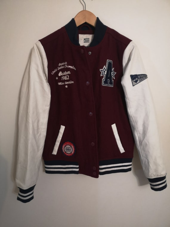 Vintage College Jacket With Patch, vintage clothin
