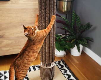 Marina City Cat Scratching Post, Chicago Architecture, Skyscraper Cardboard Cat Scratcher, Unique Fun Gift for Cat Lovers