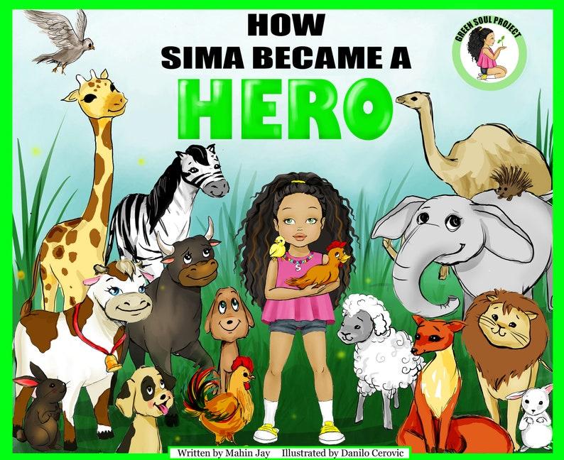 Vegan Children's Book With Stickers  Vegan Gift  Vegan image 0