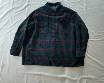 Vintage 90's Pendleton Wool Flannel Button Up Shirt