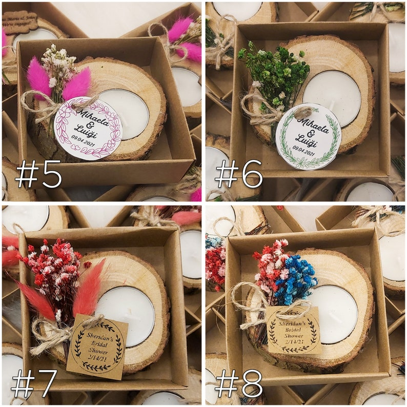 Custom Wedding Gift for Guests Personalized Wedding showers personalized candle Thank you favors Wooden favors Bulk Wedding Invitations