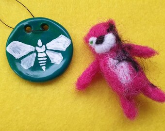 Breaking Bad inspired Teddy Mini Fanart Needle felt