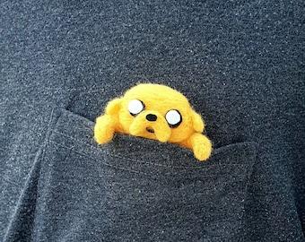 Pocket Jake, Adventure Time, Distant Lands, Jake the dog, wearable miniature, pocket square dog, Jake der Hund