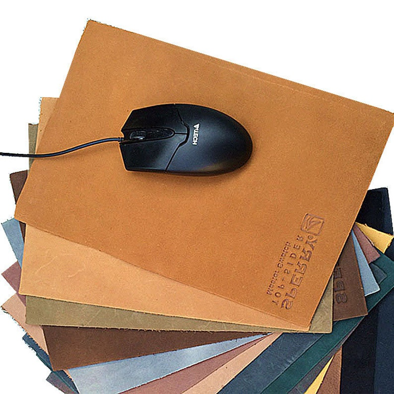 Keyboard mouse pad retro leather mouse pad quality non-slip leather pad leather manufacturers