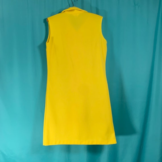 Primstyle Vintage bright yellow 1960s style polye… - image 5