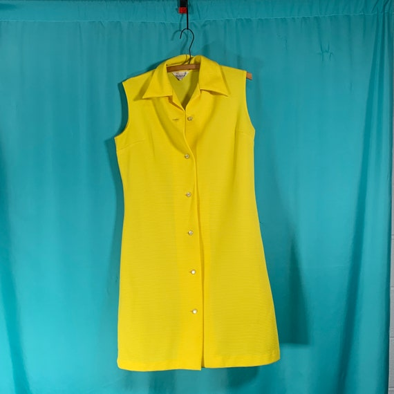 Primstyle Vintage bright yellow 1960s style polye… - image 2