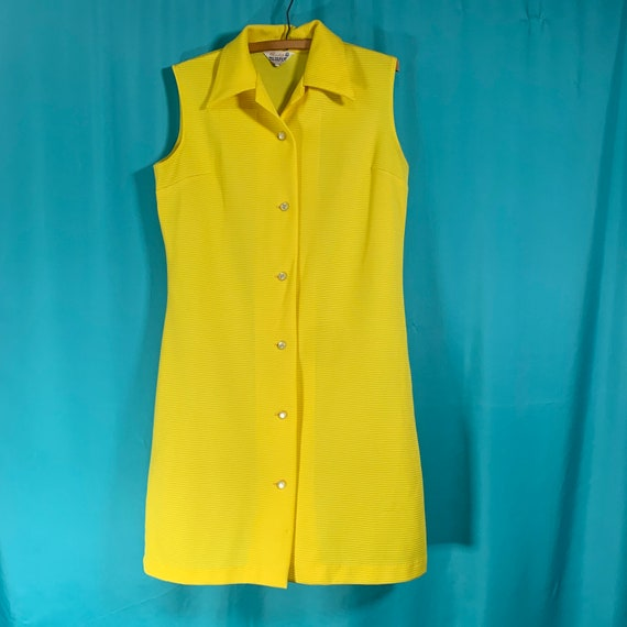 Primstyle Vintage bright yellow 1960s style polye… - image 4