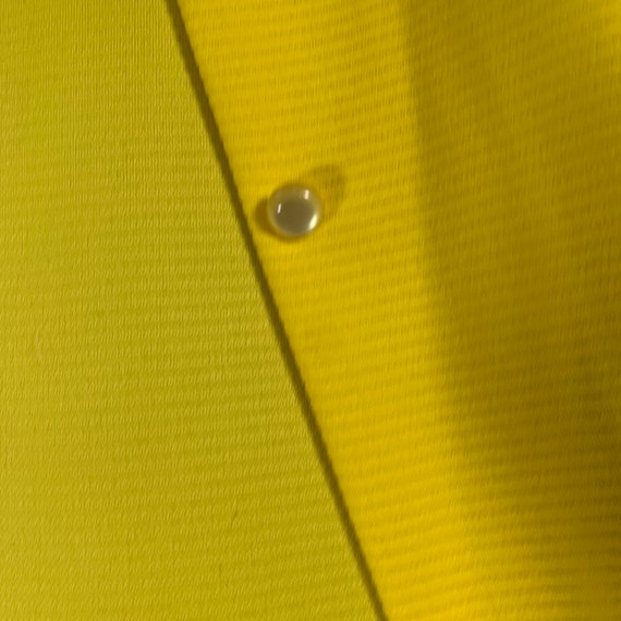 Primstyle Vintage bright yellow 1960s style polye… - image 9