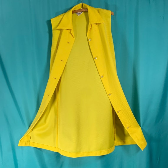 Primstyle Vintage bright yellow 1960s style polye… - image 8