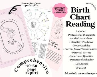 Full Astrology Birth Chart Reading, Natal Chart Reading, Birth Chart Analysis, Personalized Gift Birthday Gift