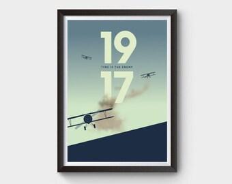 1917 Movie Sam Mendes Art Silk Canvas Film Poster Wall Art Print 24x36 inch