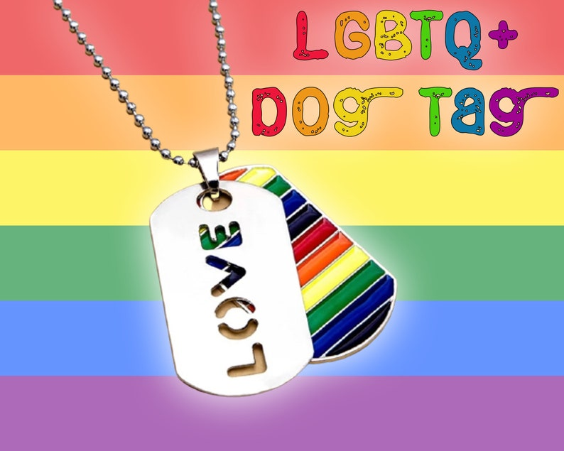 LGBTQ Dog Tag Necklace