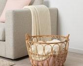 Rattan Basket Storage Baskets Hand Made Wicker Basket Living Room And Bathroom Gift For Her