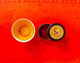 5 Grams   Persian Pure Saffron   Free Shipping   All Red Threads   Best Online Price   Lab Tested, Fresh, Premium Grade