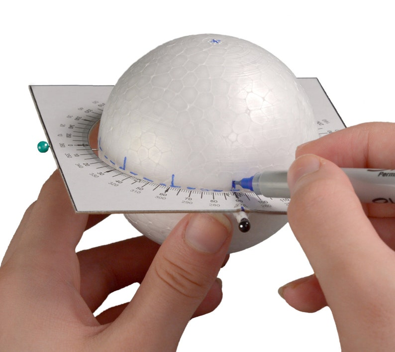 SaTurn™ ring protractor template and tutorial image 0