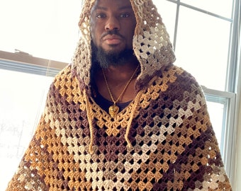Cozy Crochet Poncho (Standard and Hooded)