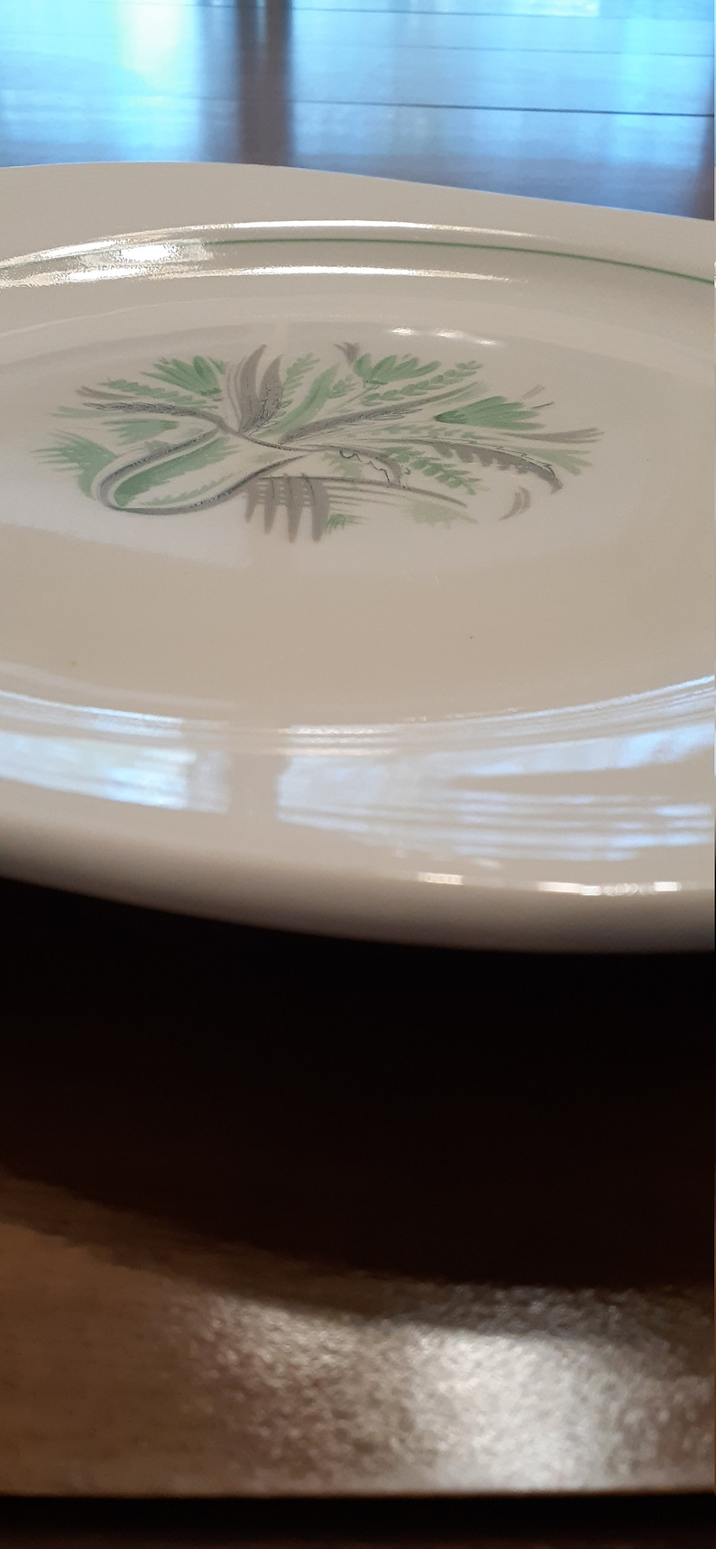 1940s platter Westwood by Limoges China W B-48 1 Ferndale Green /& white 15.5