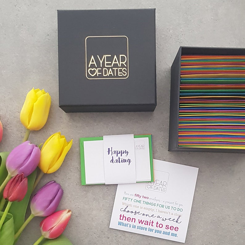 Valentine's Day Gift Ideas - A Year of Dates in a Box