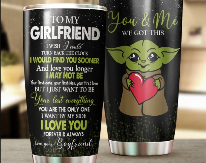 Baby Yoda Star War BaBy Yoda Tumbler GirlFriend Gifts 20oz 30oz Stainless Steel Tumbler The Child Star Wars