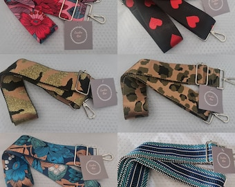 Wide Fabric Changeable Patterned Bag Straps