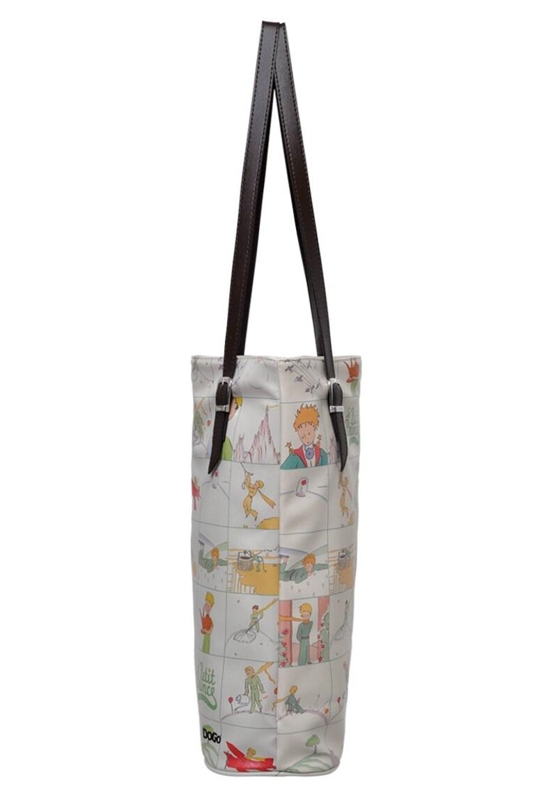 DOGO Life in Squares Le Petit Prince Vegan Leather Shoulder Bag Printed Leather