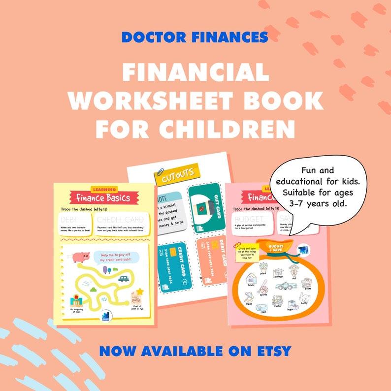 Kids Financial Workbook for Preschool Pre-K Kindergarten image 0