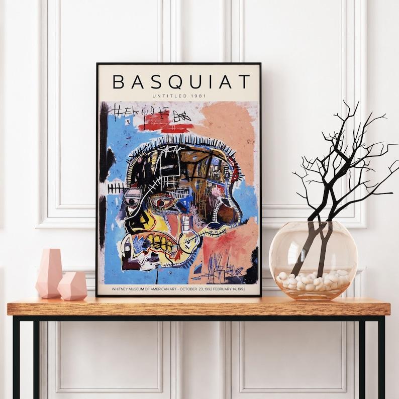 Jean Michel Basquiat Print Basquiat Untitled 1981 Exhibition Poster