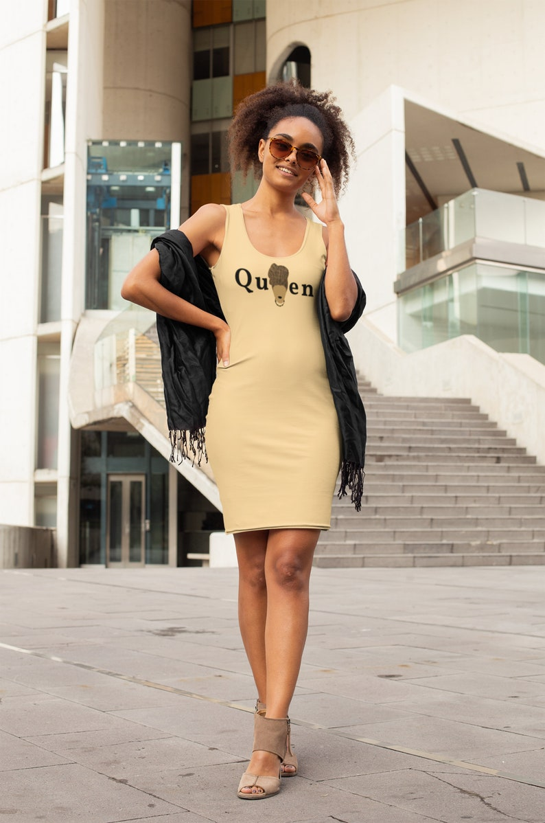 The Queen Collection Straight Dress Tan