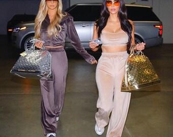 New Style UK Women VOGUE Print 2 Piece Lounge wear Tracksuit Ladies Long 2pc SML