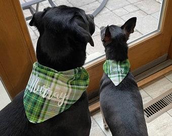 Kiss My Auss Customizable New font Handmade dog bandanna