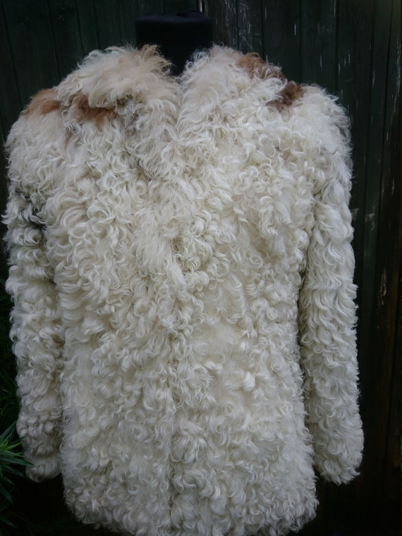 Mongolian curly sheepskin jacket