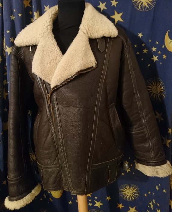 Sheepskin flying jacket