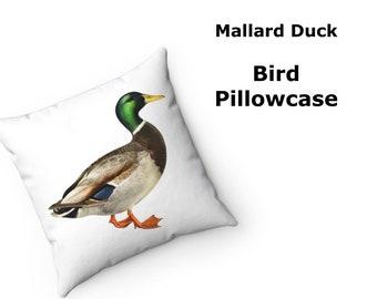 Fabric Vintage Mallard Duck Shaped Pillow Set