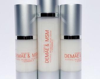 DMAE & MSM SERUM Premium - Natural Orgnic Anti Aging - Anti Wrinkle Skin Firming Skin Care Cream. Anti edad