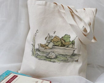 Frog and Toad Tote Bag, Canvas Tote Bag.
