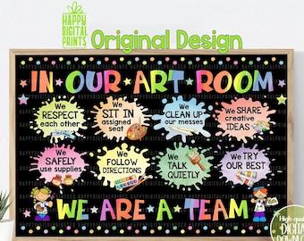 Classroom Decor Classroom Poster Art Class Decor Educational Wall Art Art Classroom Wall Art Welcome To Art Class Back To School Poster